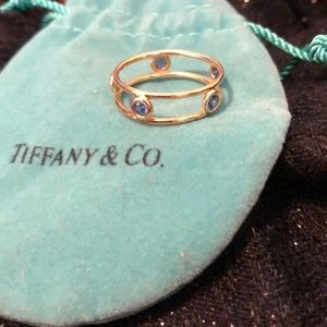 Tiffany and Co 18k & Blue Sapphire Ring